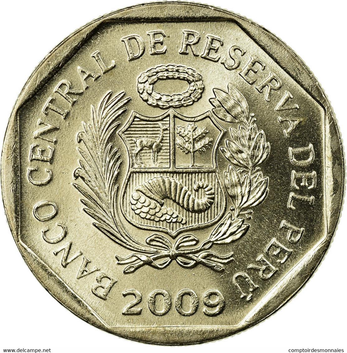 Monnaie, Pérou, Nuevo Sol, 2009, Lima, SUP, Copper-Nickel-Zinc, KM:308.4 - Pérou
