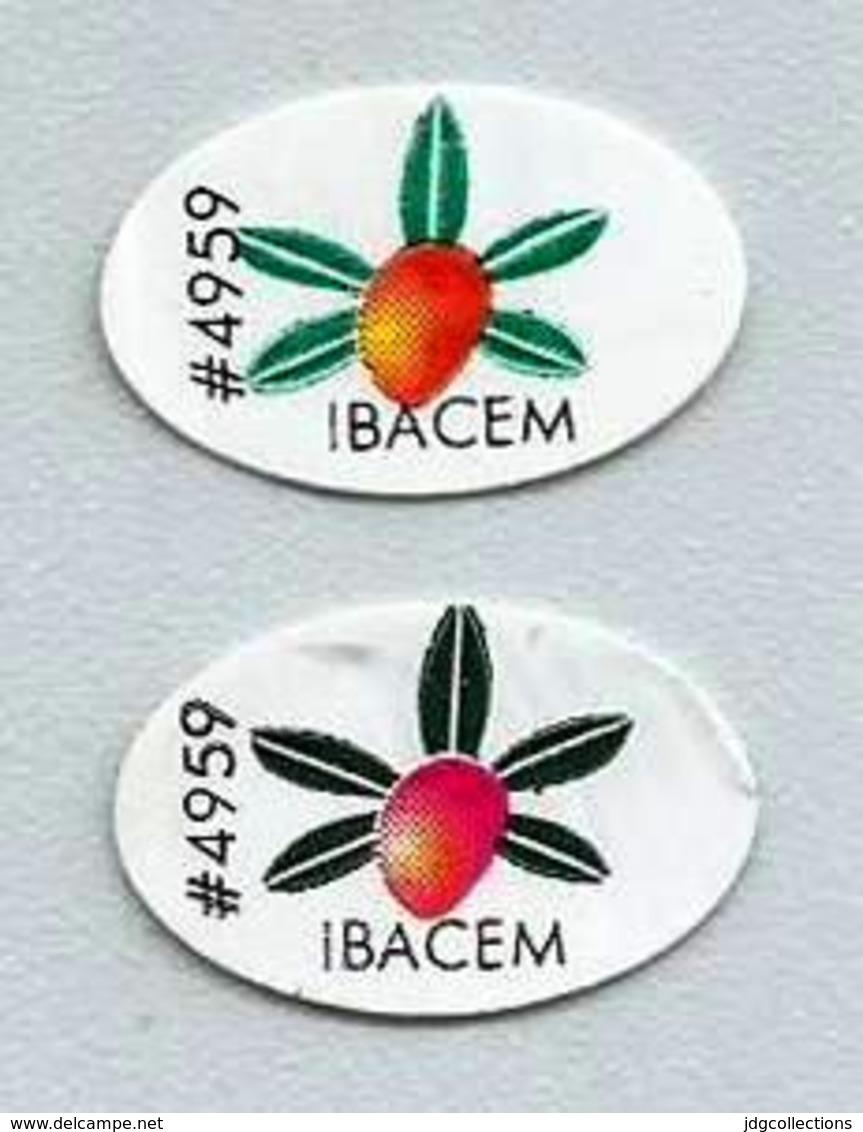 # MANGO IBACEM BRAZIL (x 2) Type 3 Fruit Sticker Label Etichette Etiquettes Etiquetas Adhesive Aufkleber Fruta Frucht - Obst Und Gemüse