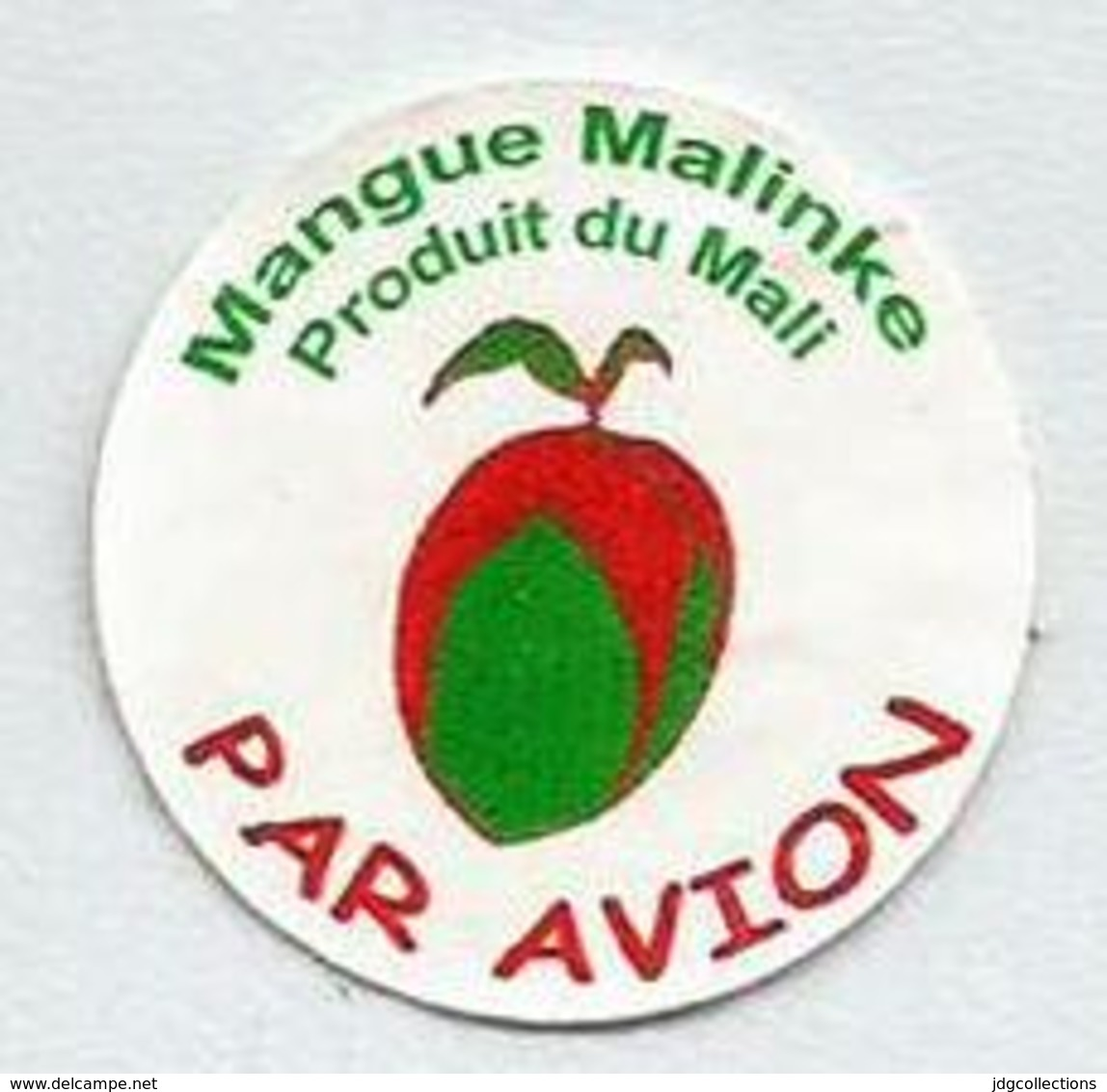 # MANGO MALINKE - MALI, Fruit Sticker Label Etiquette Etiqueta Adhesive Aufkleber Fruta Frucht By Air Par Avion - Fruits & Vegetables