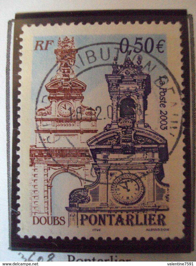 "2000-2009    - Timbre Oblitéré N° 3608   ""  Pontarlier   ""   0.50 - France"