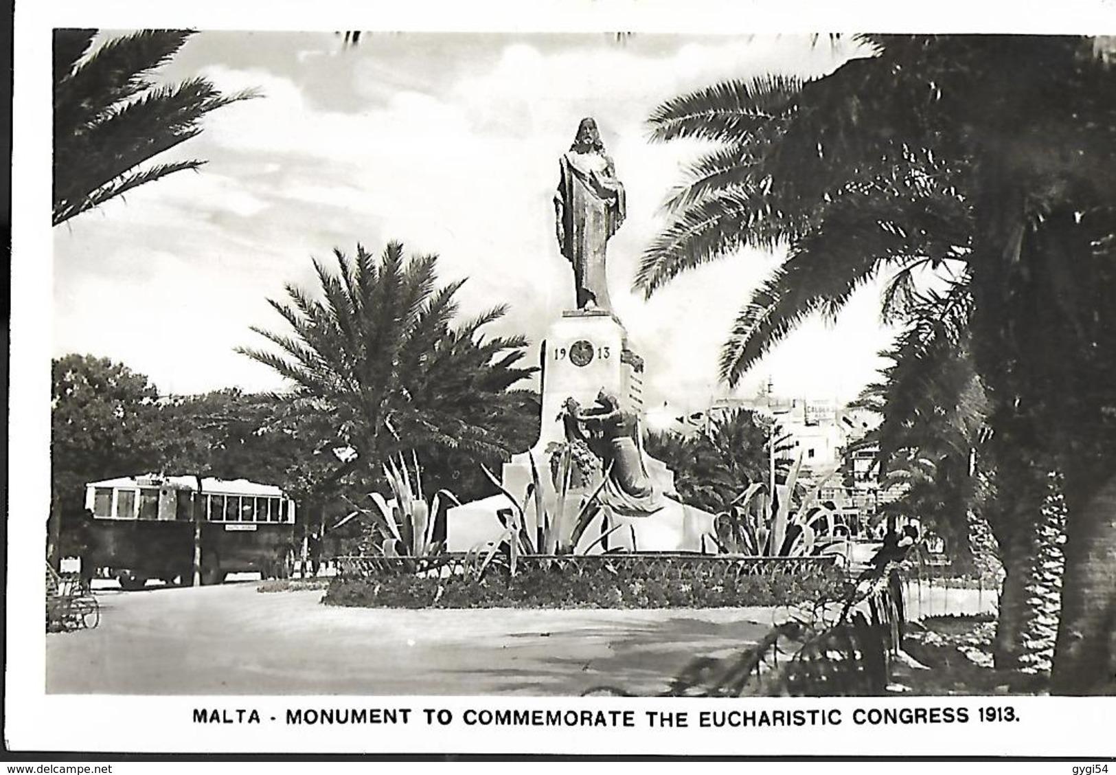 Malta  Monument To Commemorate  The Eucharistic  Congress 1913 - Malte