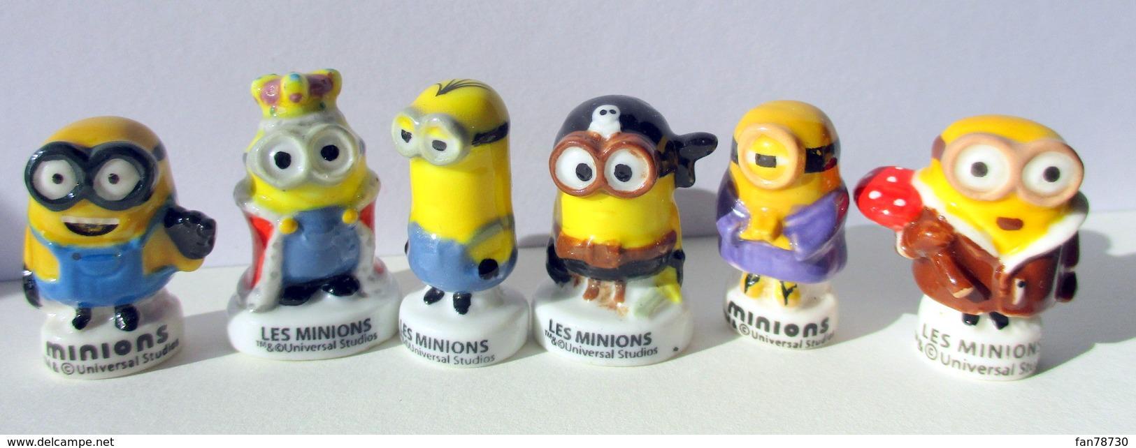 Fèves Minions D'Universal Studios - Brillantes X 6 - Personnages