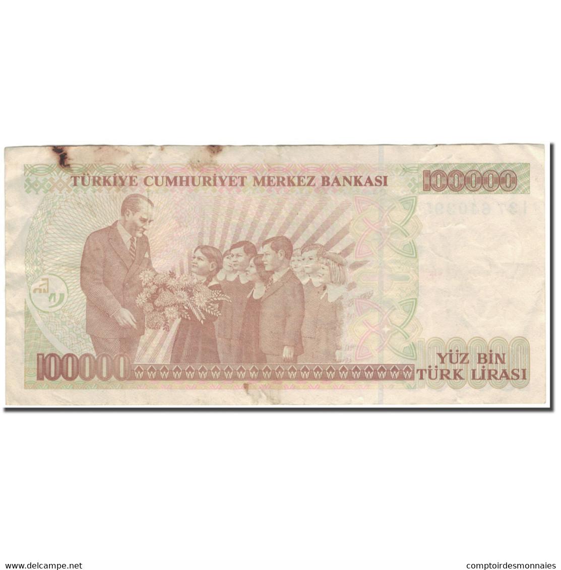 Billet, Turquie, 100,000 Lira, 1970, KM:205, TB+ - Turquie