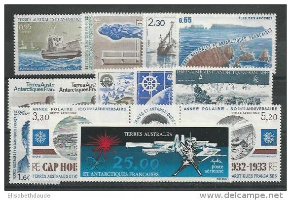TAAF - ANNEE COMPLETE 1982 ** AVEC POSTE AERIENNE - COTE = 40.65 EUROS - - Full Years