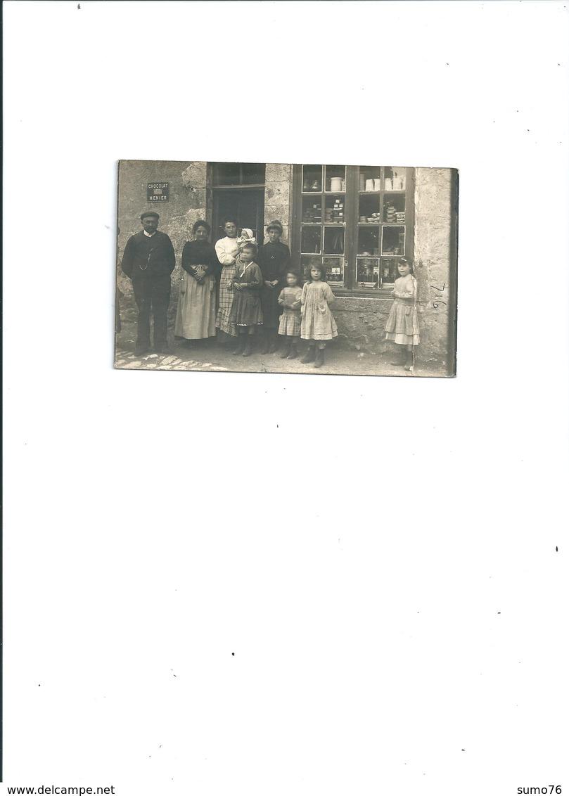CARTE PHOTO SAINT DYE EPICERIE 1906 BELLE ANIMATION - France