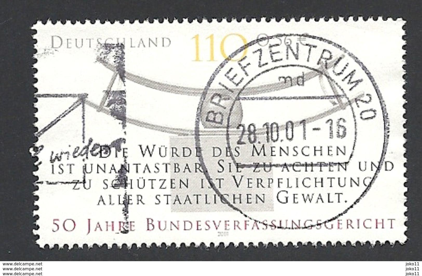 Deutschland, 2001, Mi.-Nr. 2214, Gestempelt - Gebraucht