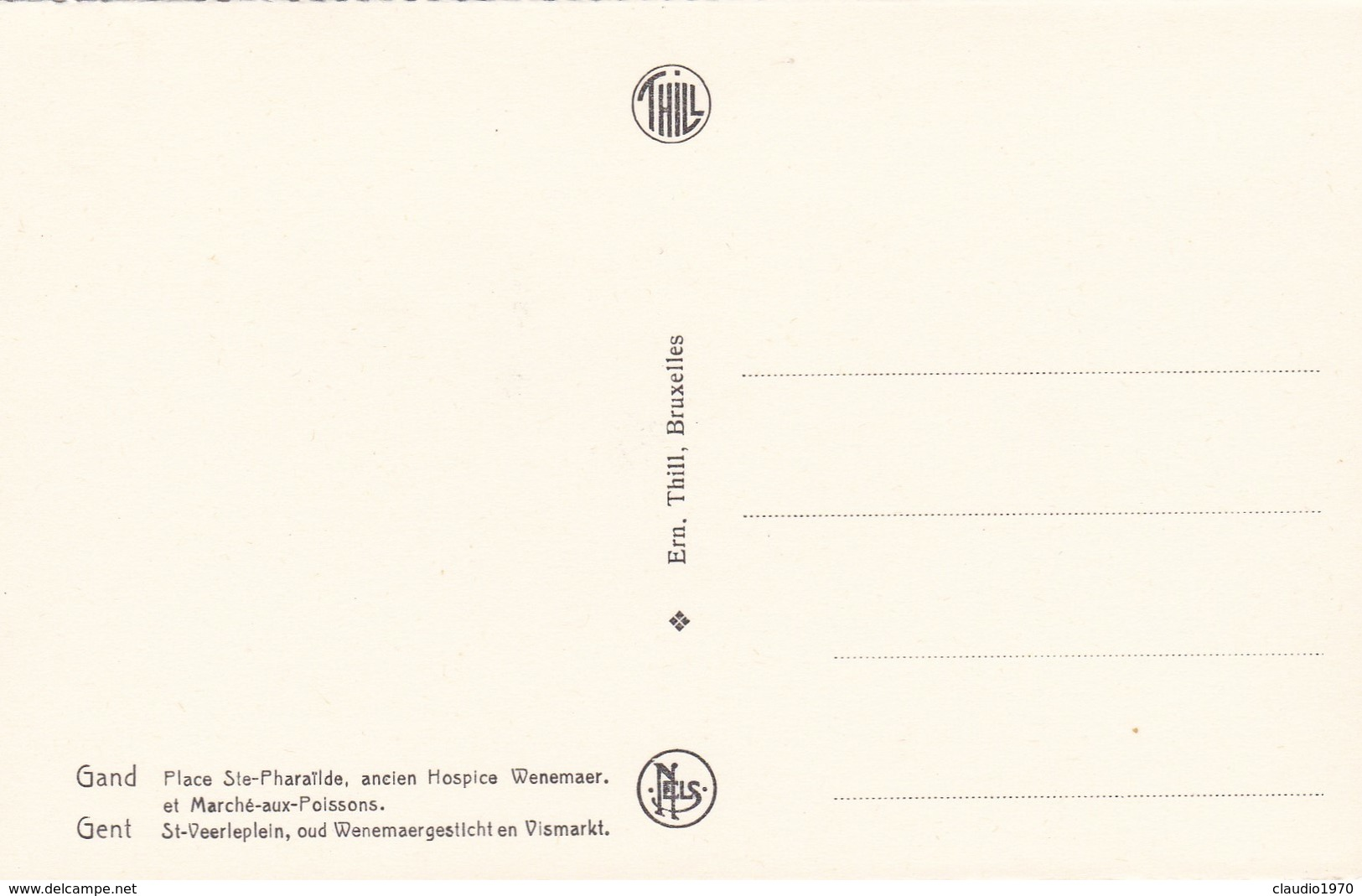 CARTOLINA - POSTCARD - BELGIO - GENT - PLACE STE - PHAILDE ANCIEN HOSPICA - Gent