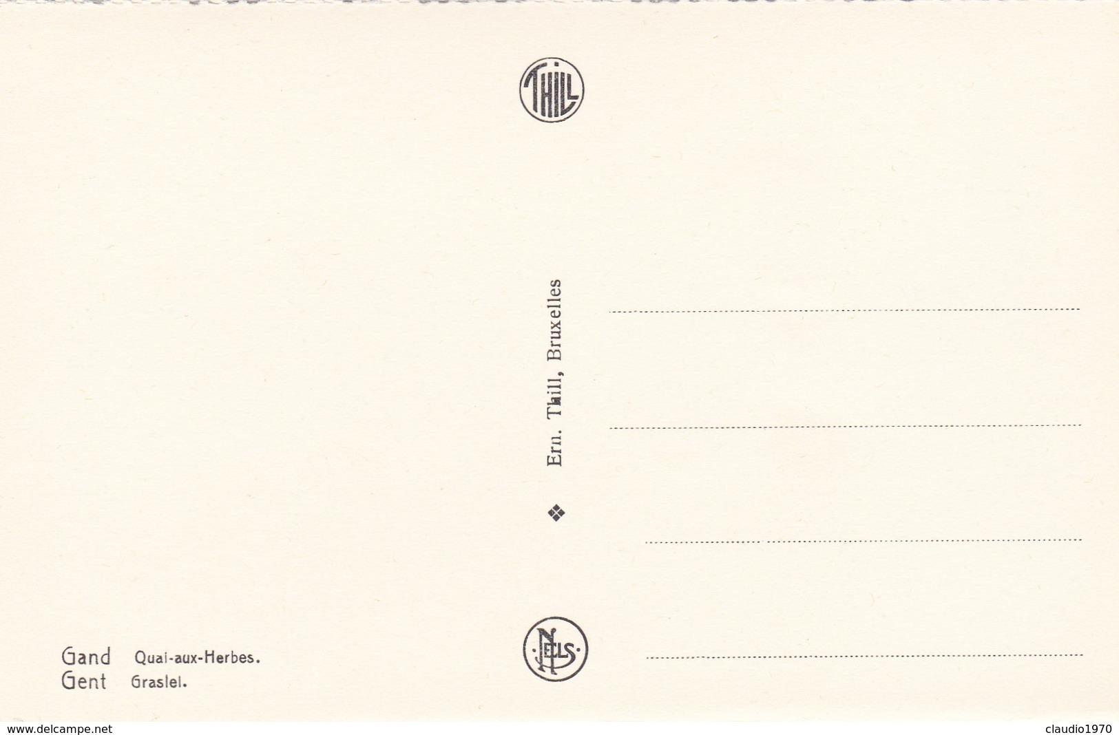 CARTOLINA - POSTCARD - BELGIO - GENT - GRASLEL - Gent