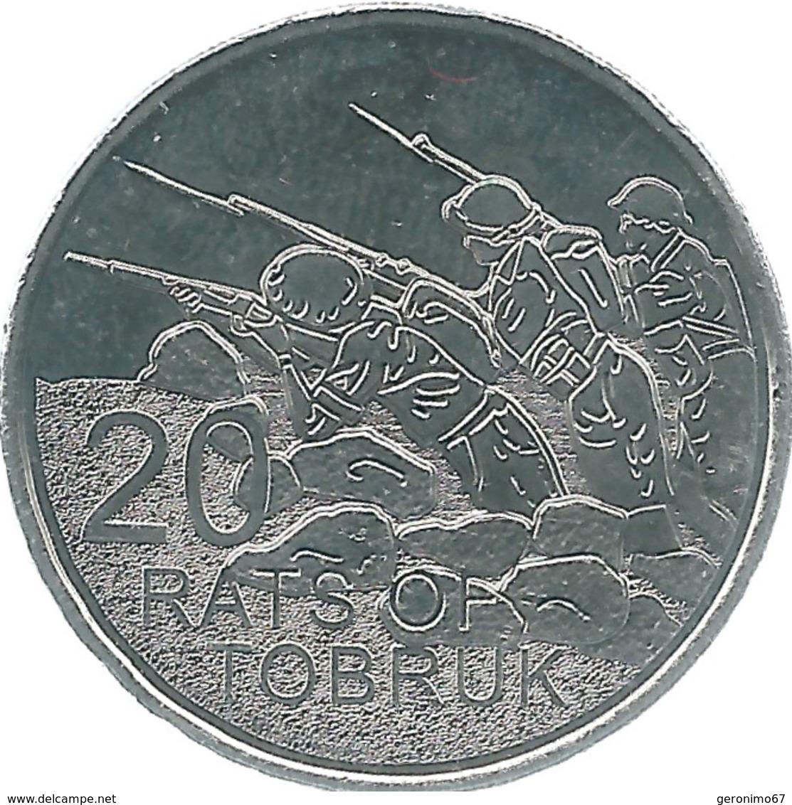 Australia - Elizabeth II - 20 Cents - 2016 - Desert Rats Of Tobruk - Monnaie Décimale (1966-...)