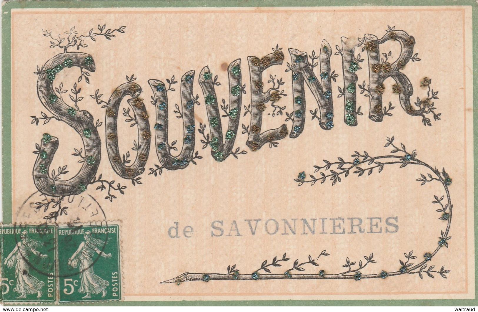 37--SAVONNIERES--SOUVENIR EN PAILLETTES-VOIR SCANNER - Autres Communes