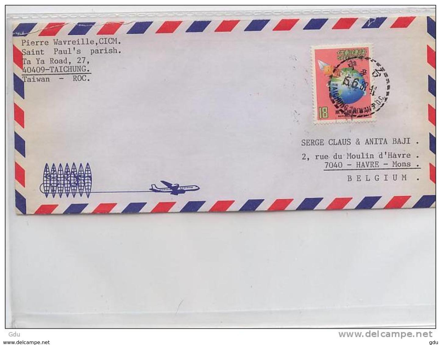 Pli De Formose/Taiwan To Belgium -  Obl. 1987 - Taiwán (Formosa)