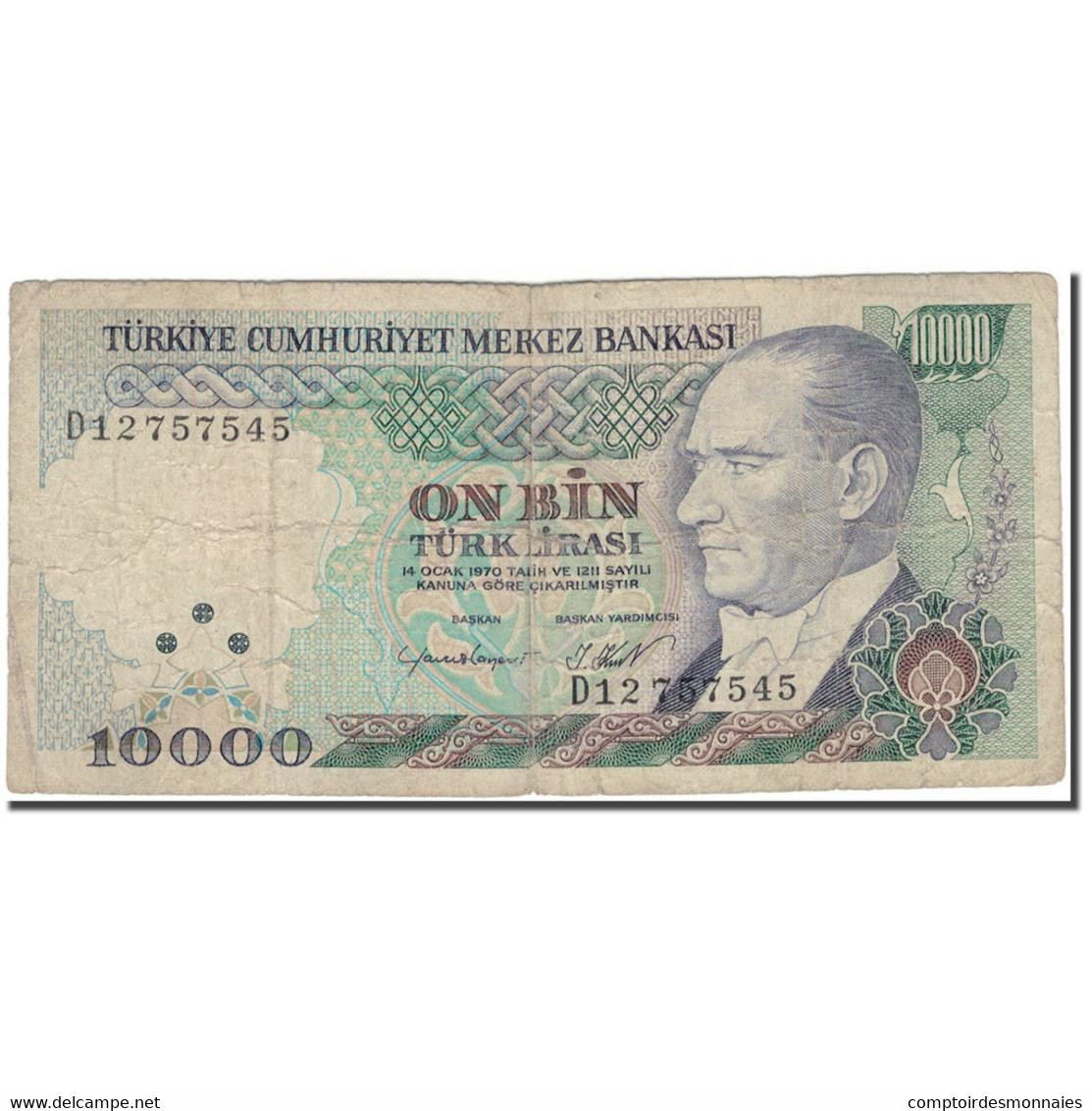 Billet, Turquie, 10,000 Lira, 1970, KM:199, B+ - Turquie
