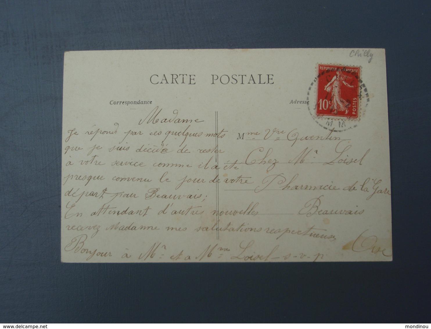 Cpa MAUCOURT - La Chapelle Notre-Dame De Grâce. Adressée à Pharmacie De La Gare à Beauvais. 1913 - Francia