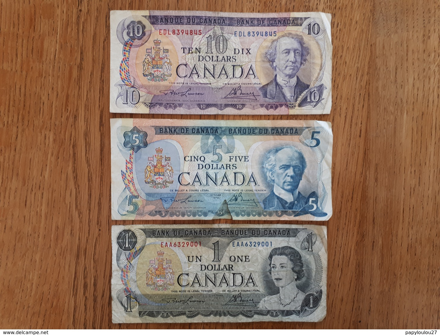 Lot De 3 Billets Canadiens - Kanada
