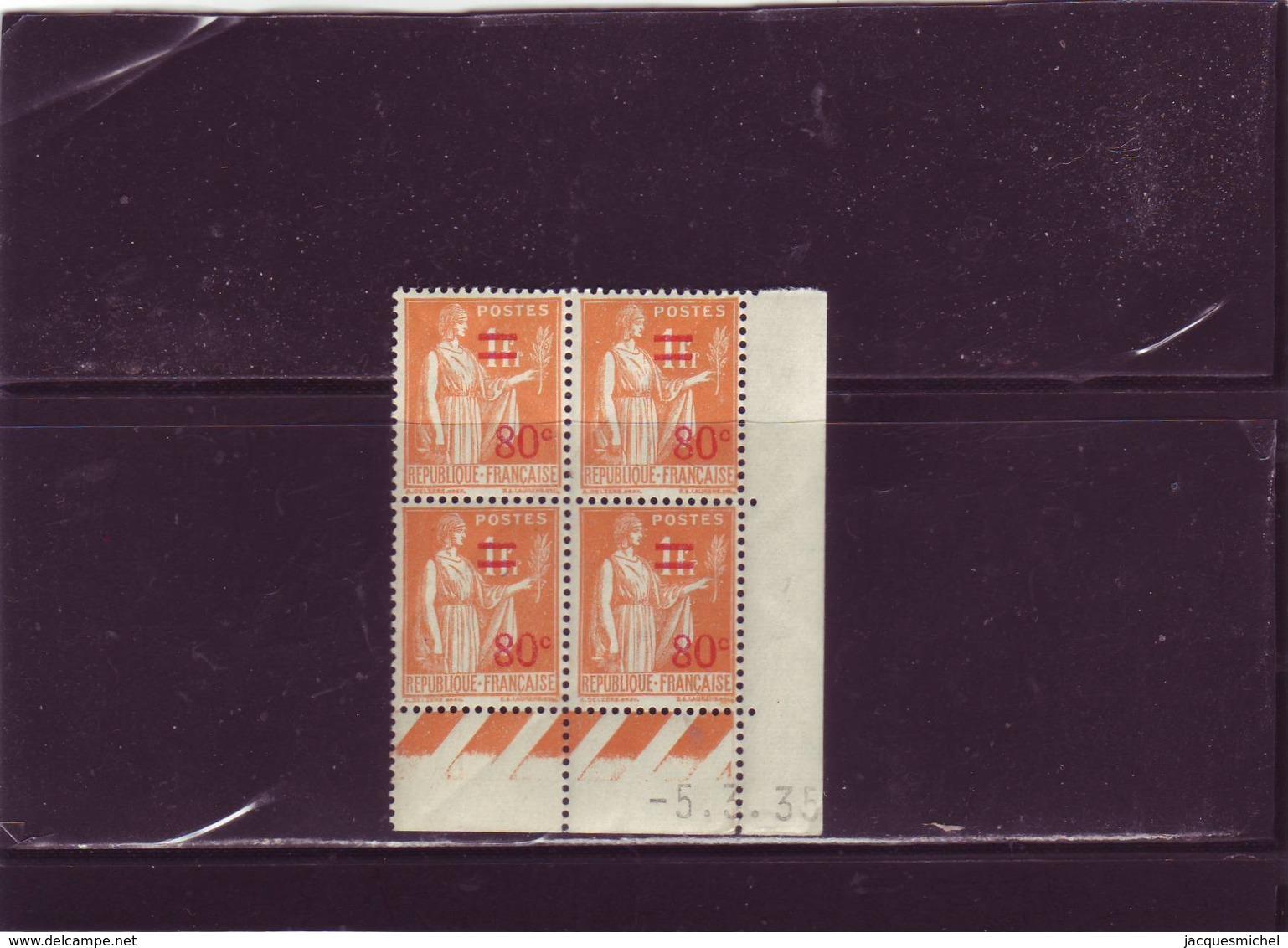 N° 359 - 80c/1F  PAIX/LAURENS - C De C+D - 1° Tirage Du 22.2.35 Au 13.3.35 - 5.3.35 ( Palindrome) - 1930-1939