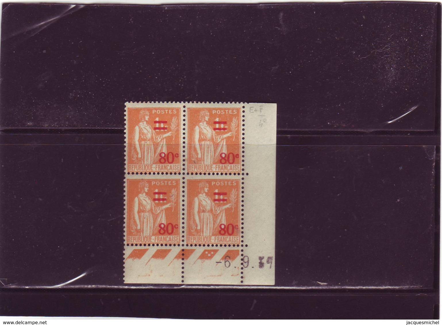 N° 359 - 80c/1F  PAIX/LAURENS - F De E+F - 4° Tirage/2° Partie Du 31.8 Au 9.9.37 - 6.09.1937 - - 1930-1939