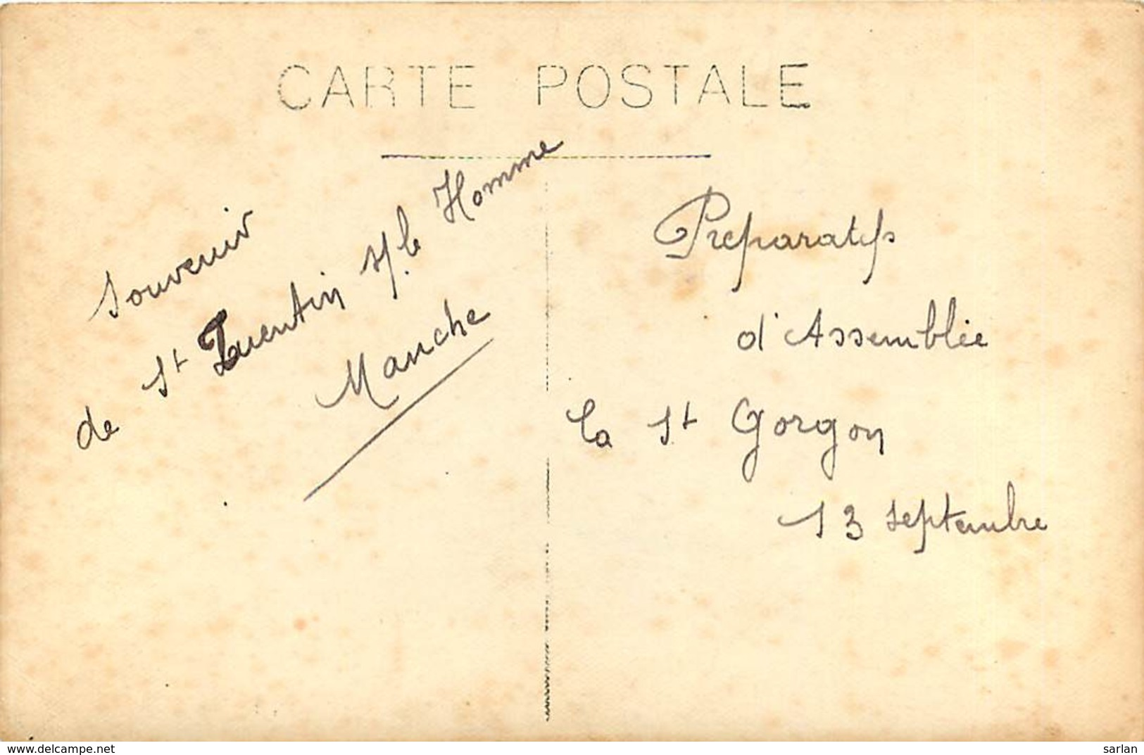 50 , Saint-Quentin-sur-le-Homme , Carte Photo St Gorgon , * 417 67 - Francia