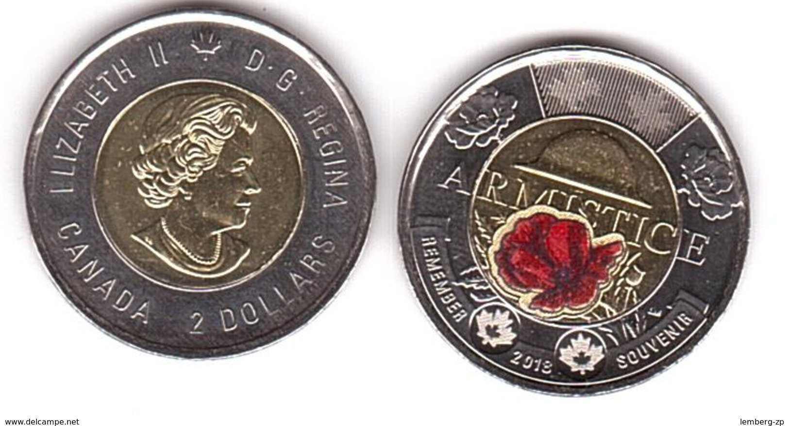 Canada - 2 Dollars 2018 UNC Armistice Lemberg-Zp - Canada