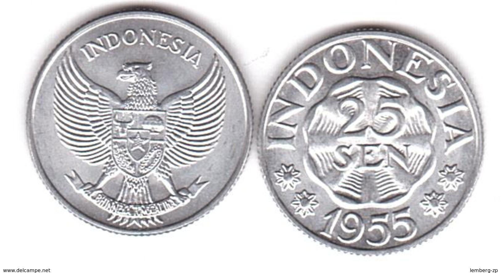 Indonesia - 25 Sen 1955 UNC Lemberg-Zp - Indonésie