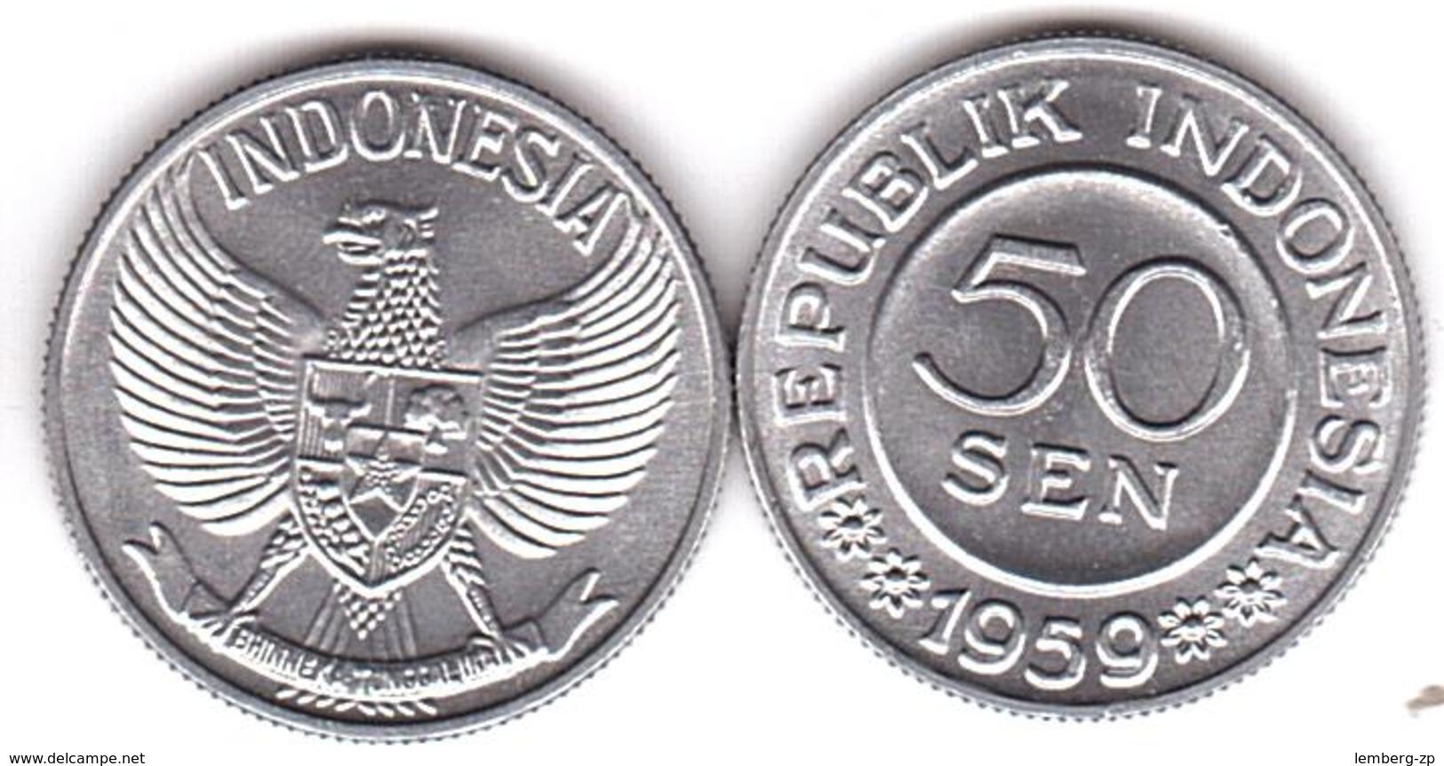 Indonesia - 50 Sen 1959 UNC Lemberg-Zp - Indonésie