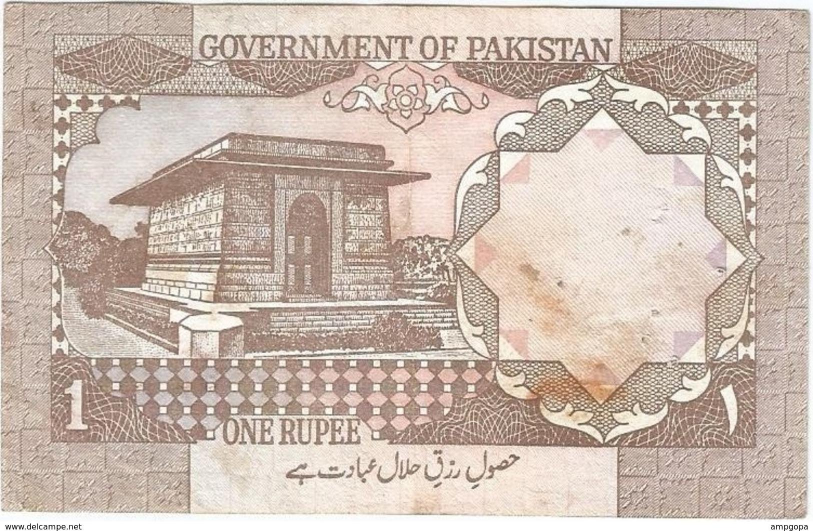 Pakistán 1 Rupee 1983 Pk 27 M Firma Mian Tayeb Hasan, Serie Abajo A Derecha Ref 1916 - Pakistan