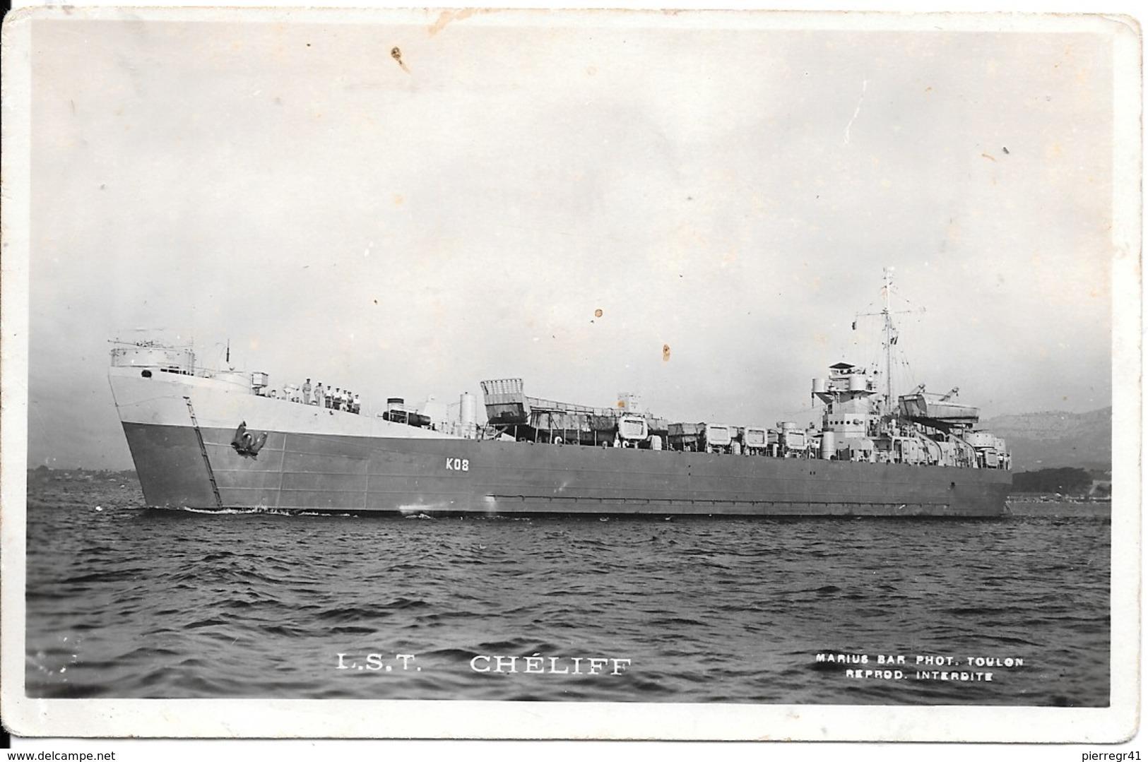 CPA-1948-MARINE-NATIONALE-1946/1951-L.S.T CHELIFF K08/Ex L.S.T 874-USA- Transport De Materiel -TBE - Guerre