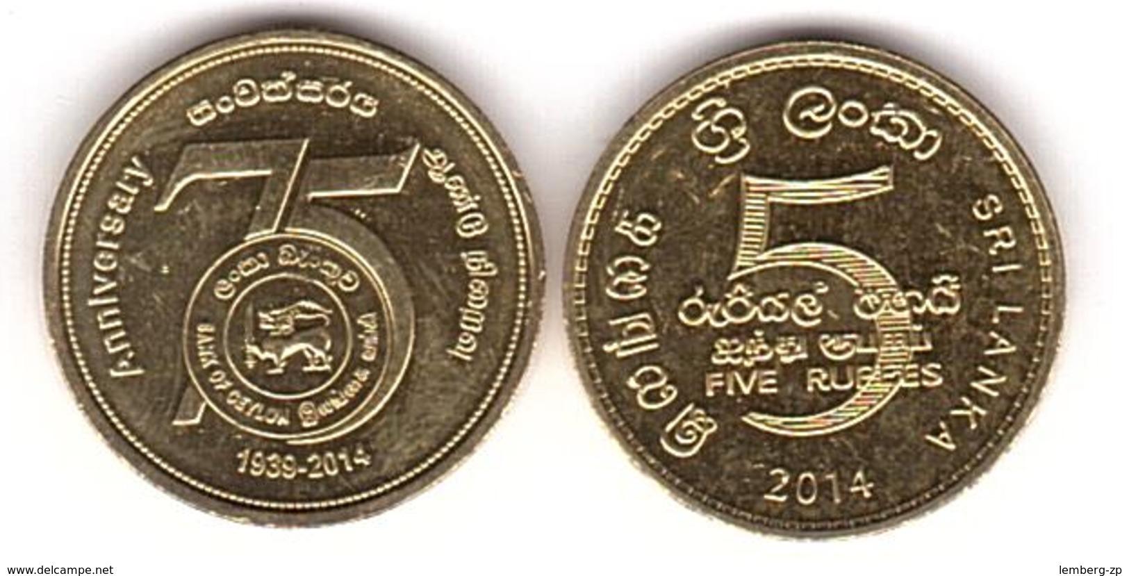 Sri Lanka - 5 Rupees 2014 UNC Comm. Lemberg-Zp - Sri Lanka