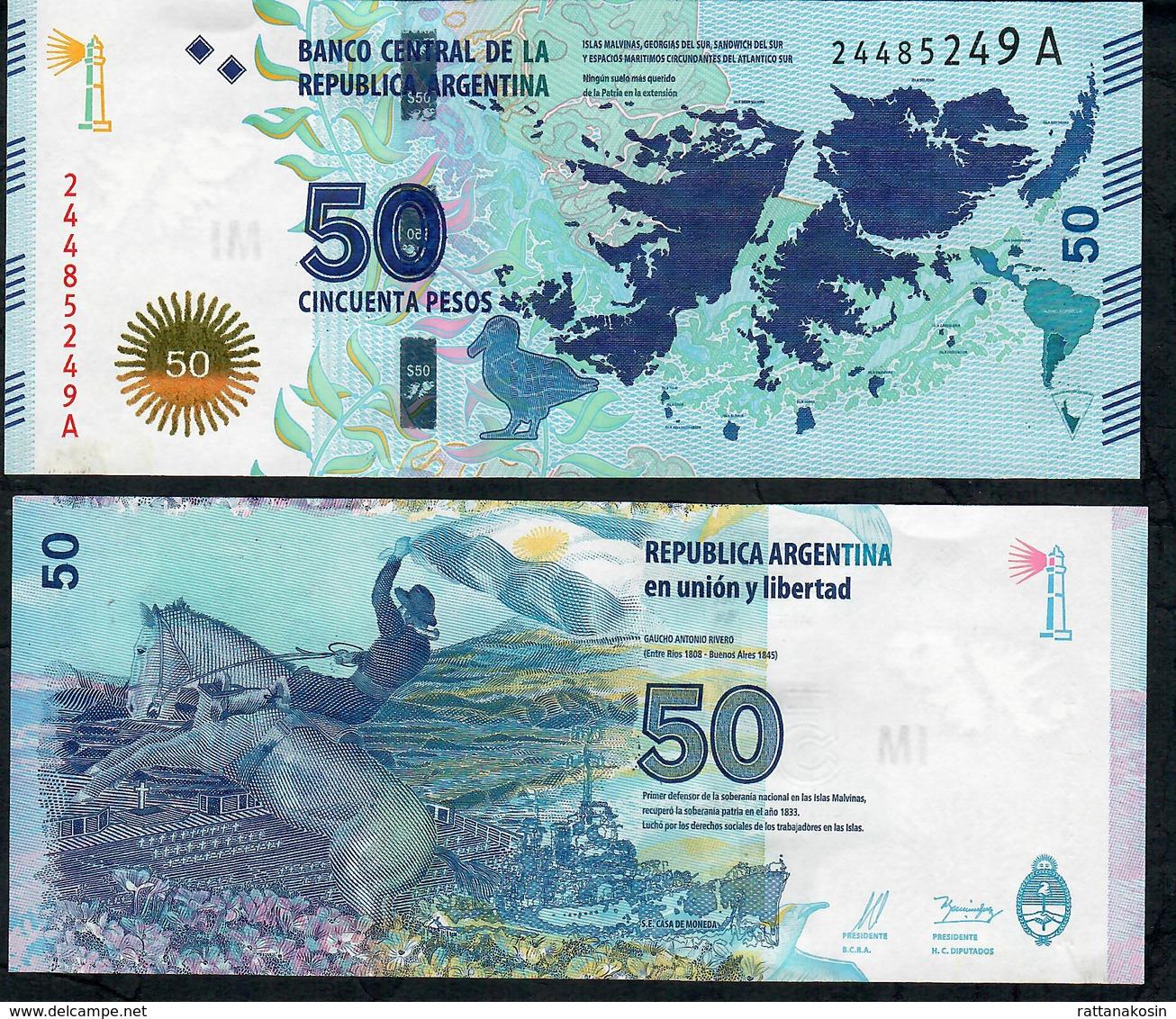 ARGENTINA P362 50 Pesos 2015 Islas Malvinas Serie A UNC - Argentine