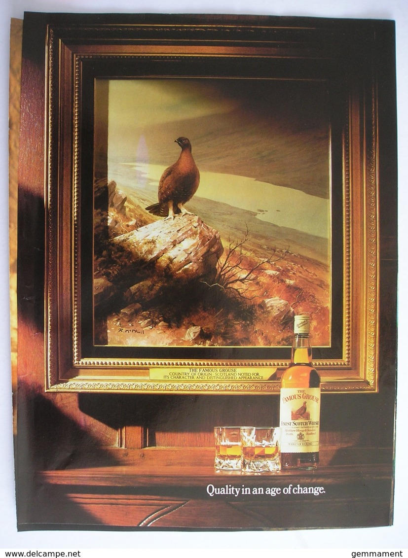 FAMOUS GROUSE SCOTCH WHISKY. ORIGINAL 1986 MAGAZINE ADVERT - Advertising