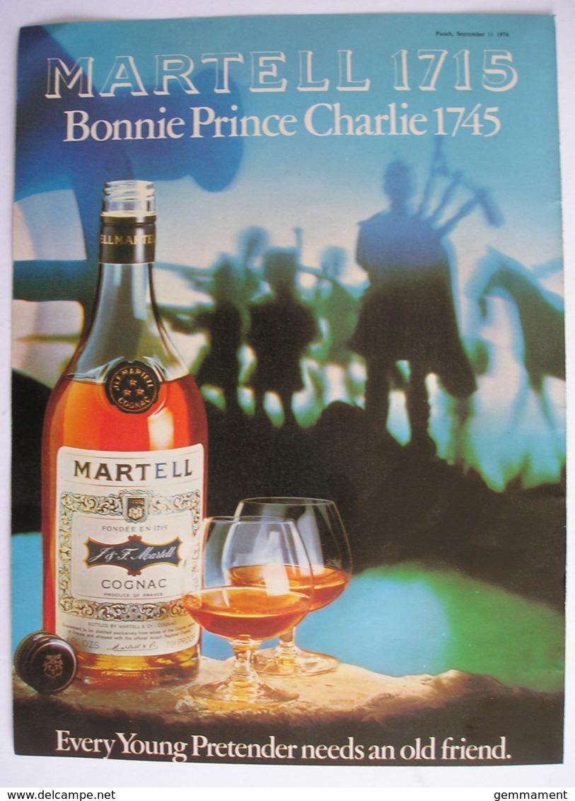 MARTELL COGNAC. ORIGINAL 1974 MAGAZINE ADVERT - Advertising