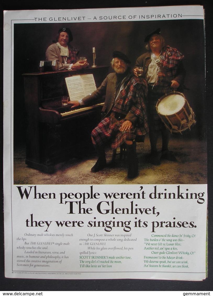 GLENLIVET SINGLE MALT WHISKY. ORIGINAL 1974 MAGAZINE ADVERT - Advertising