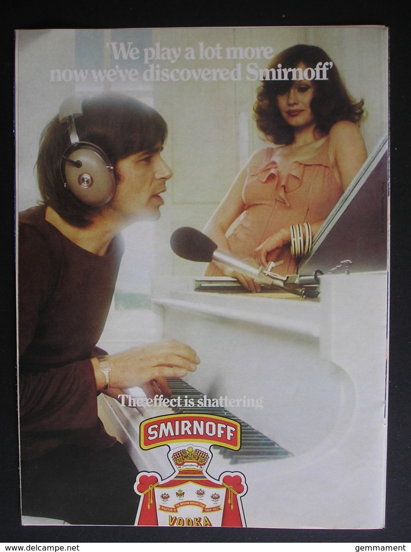 SMIRNOFF VODKA.  ORIGINAL 1974 MAGAZINE ADVERT - Advertising