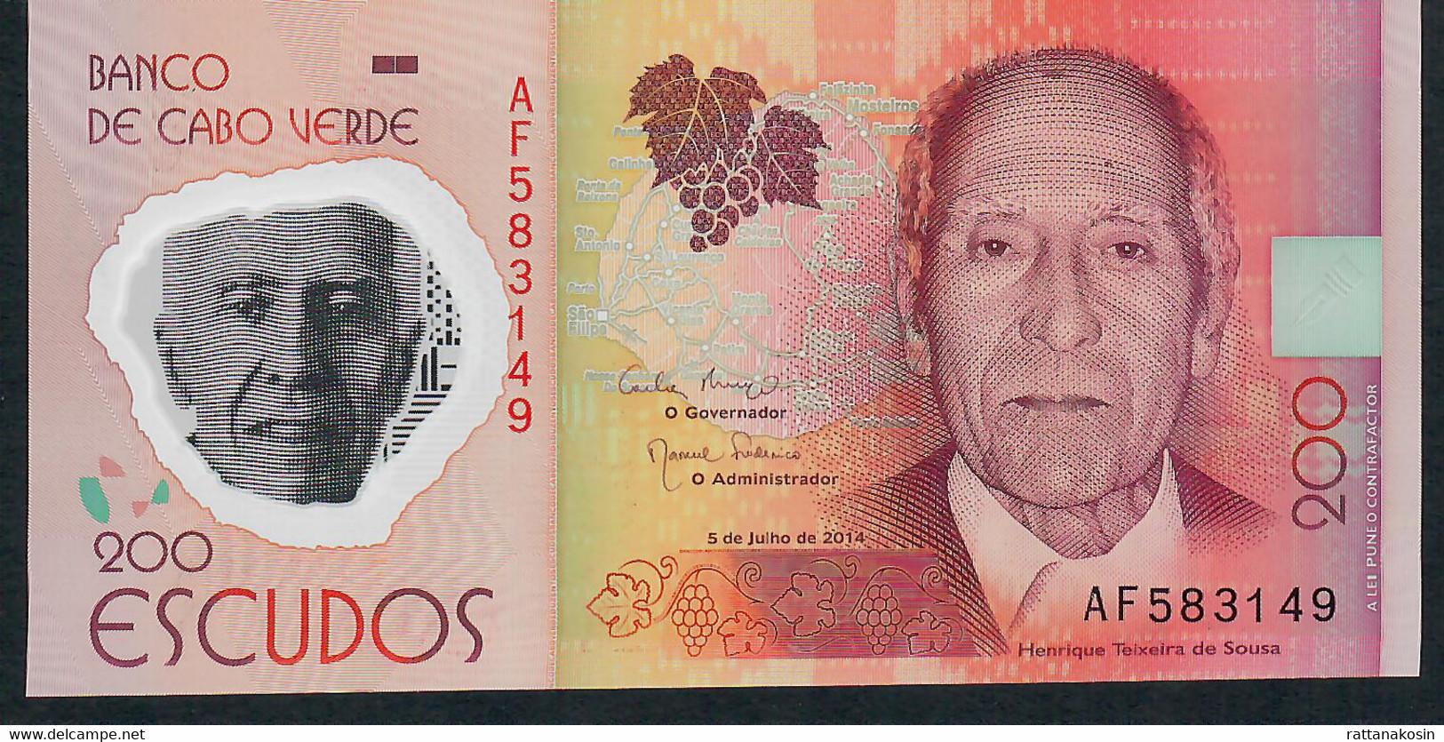 CAPE VERDE P71 200 Escudos 2014 UNC - Cabo Verde
