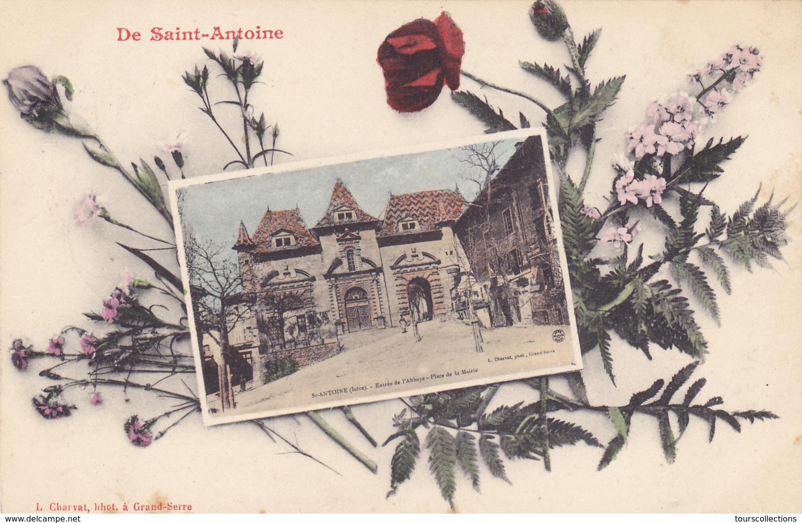 CPA 38 @ DE SAINT ANTOINE Place De La Mairie En 1908 - France