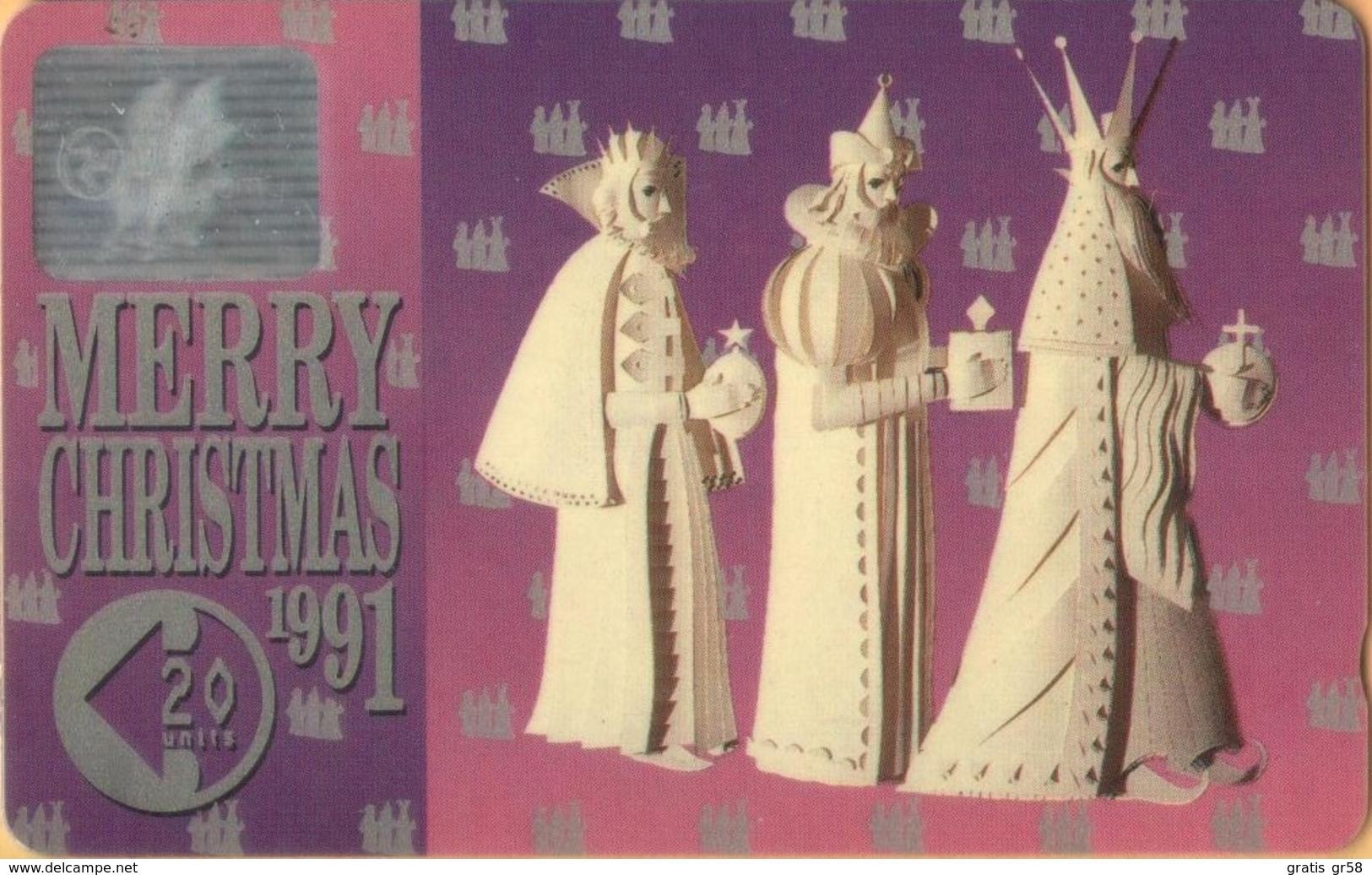 Isle Of Man - GPT, Christmas 1991, CN 11IOMA, Three Wise Men, 3,882ex, 1991, VF Used - Isla De Man
