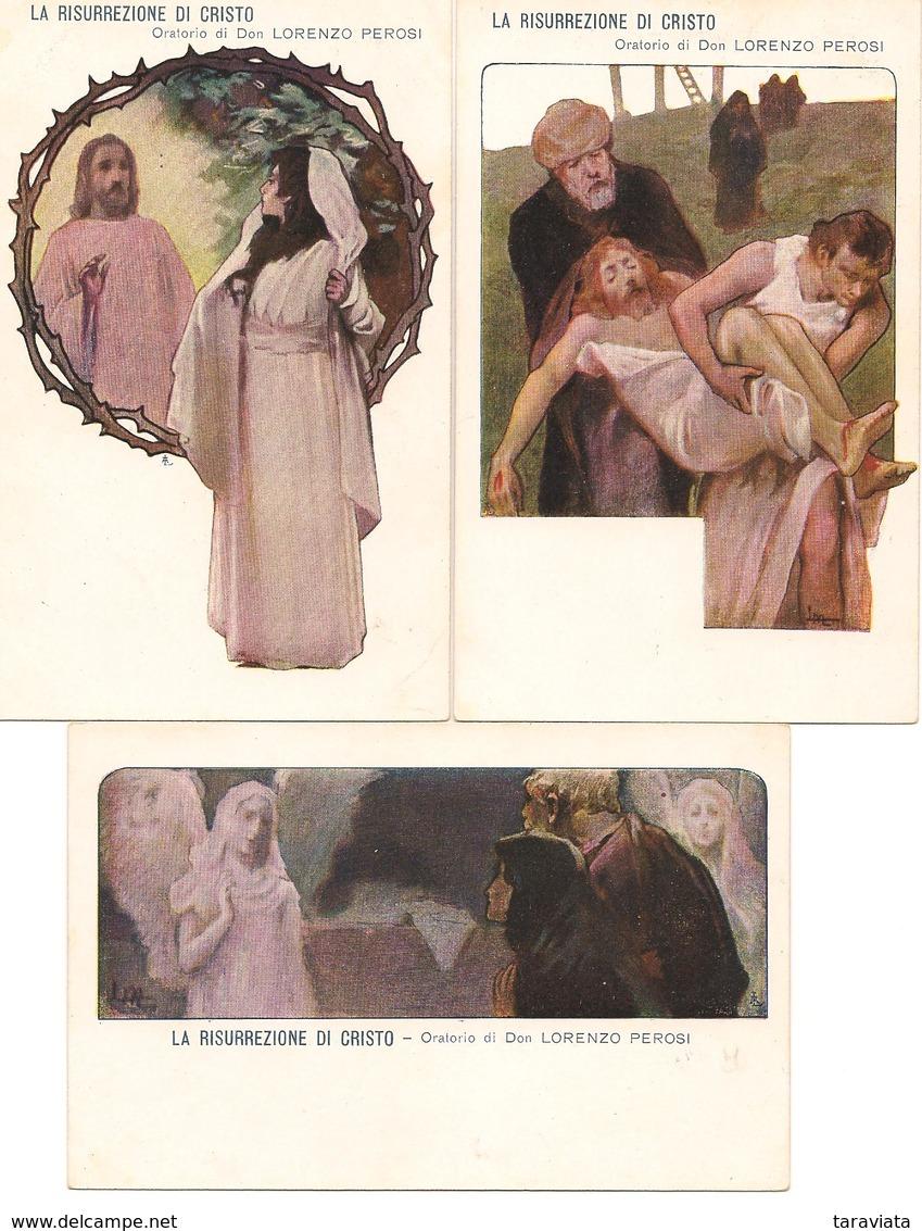 5 Cpa Illustrateur RISURREZIONE DI CRISTO Oratorio Lorenzo Perosi - Musik Und Musikanten
