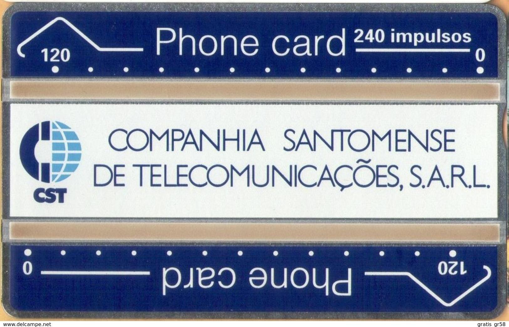Sao Tome And Principe - ST-CST-0001, Definitive, L&G, 240U, 112K, 5.000ex, 12/91, Mint / Unused - San Tomé E Principe