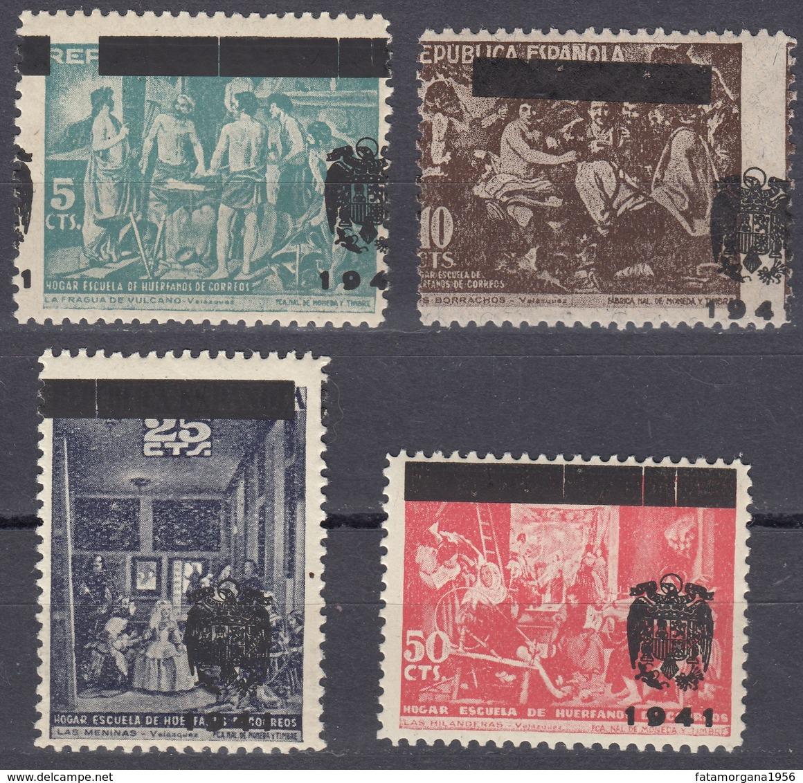 SPAGNA - SPAIN - ESPAGNE - 1941 - BENEFICENZA - Lotto Formato Da 4 Valori Nuovi MH: Yvert 86/89. - Wohlfahrtsmarken