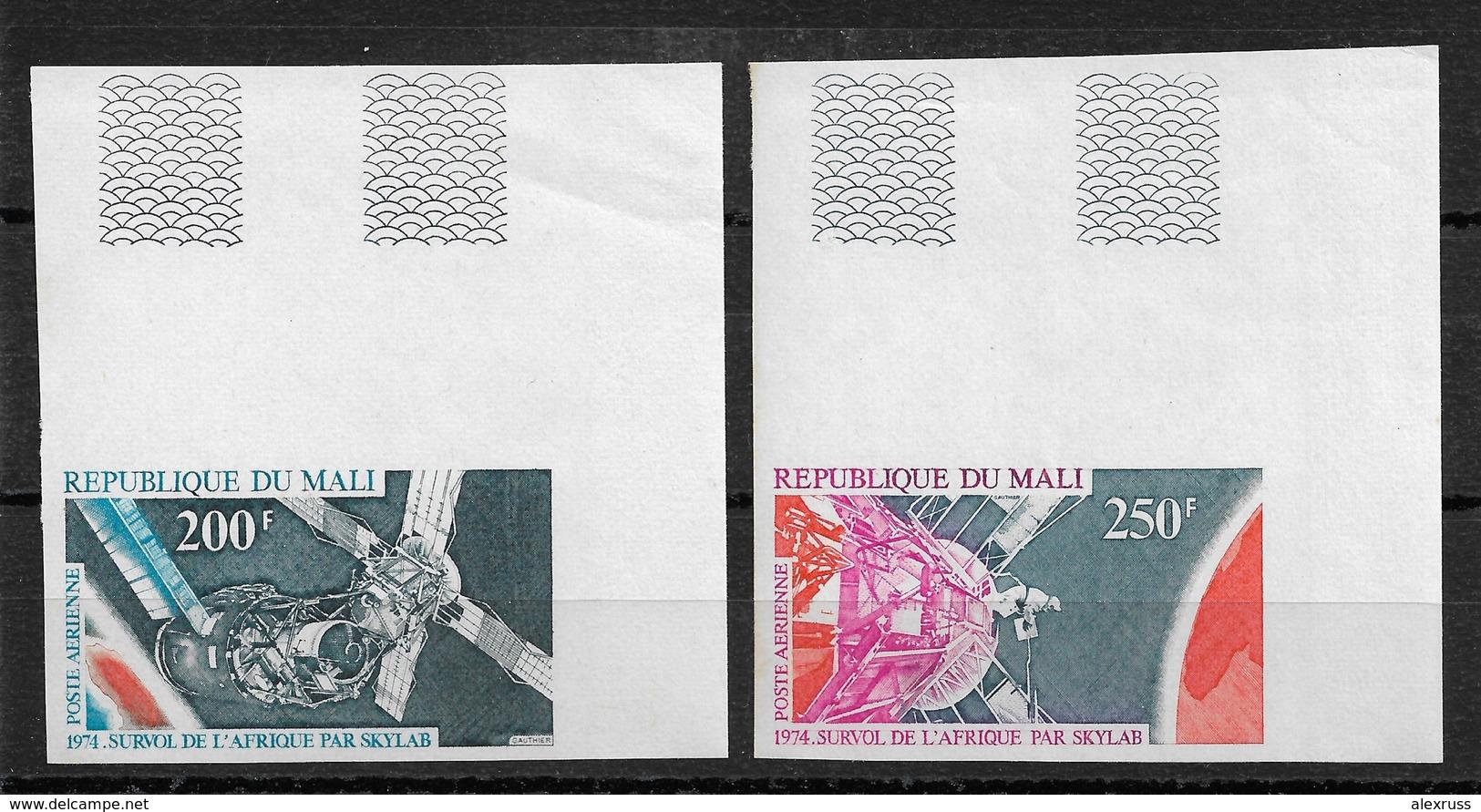 MALI 1974 SPACE IMPERF SCOTT # C220-C221,VF-XF MNH** (RN-8) - Mali (1959-...)