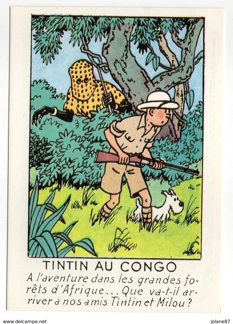 CPM    HERGE   LES AVENTURES DE TINTIN    TINTIN AU CONGO - Bandes Dessinées