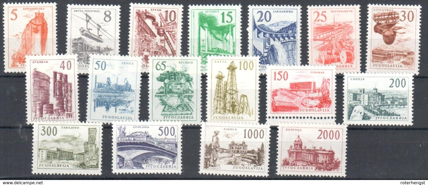 1961 Yougoslavia Complete Set Mnh ** 40 Euros - 1945-1992 Sozialistische Föderative Republik Jugoslawien