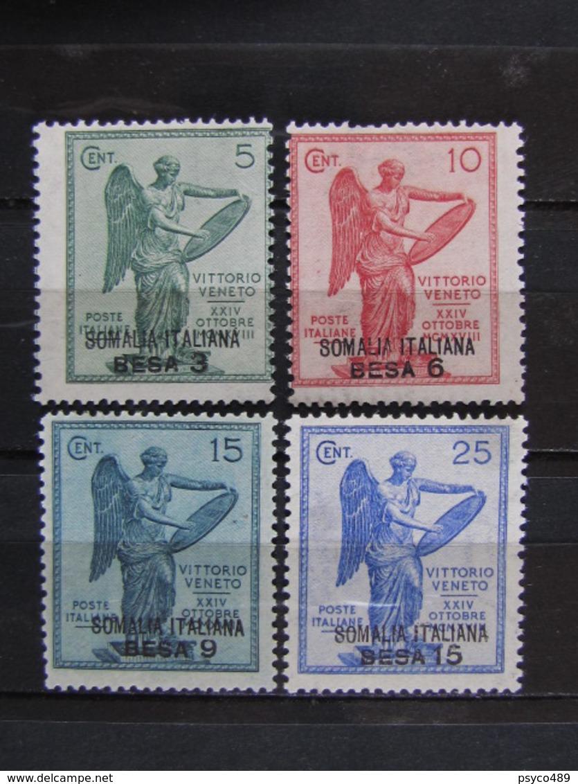 """ITALIA Colonie Somalia-1922- """"Vittoria"""" Cpl. 4 Val. MLH* (descrizione) - Somalia"""