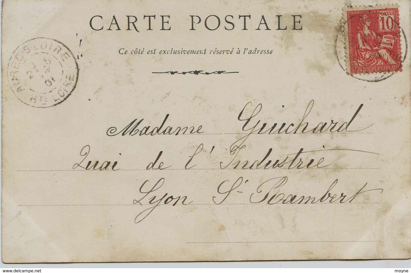 3159 - Loire Atlantique - LE  POULIGUEN  : LA PLAGE (Précurseur ?) 1901 - Le Pouliguen