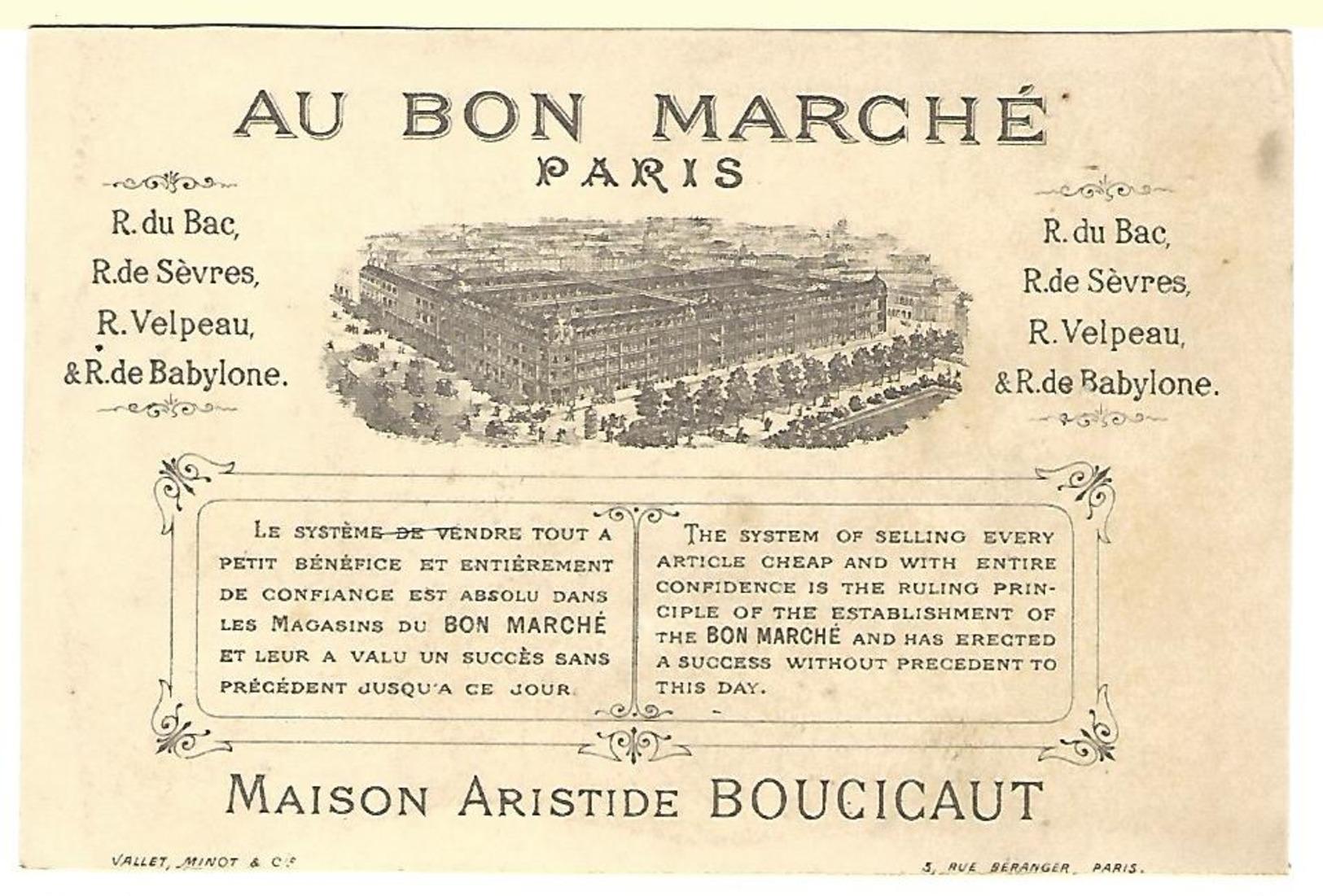 CHROMO AU BON MARCHÉ, LEÇON DE MUSIQUE, Fillette Poupée Piano - Au Bon Marché