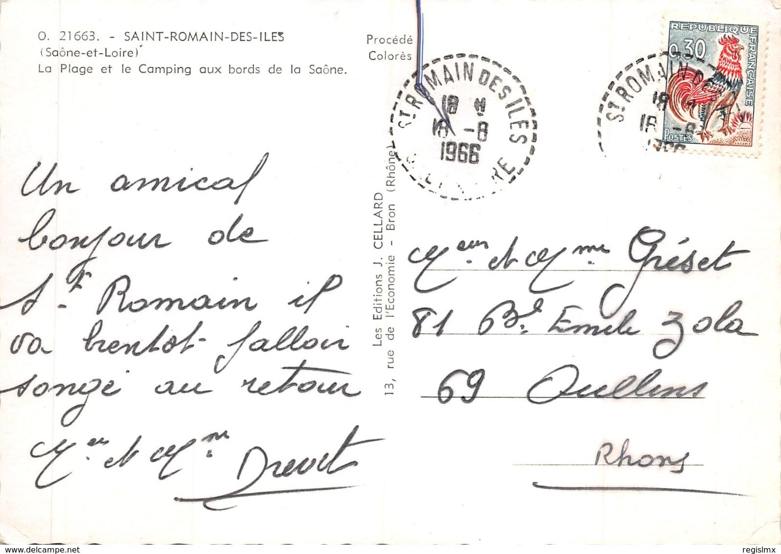 71-SAINT ROMAIN DES ILES-N°546-A/0023 - France