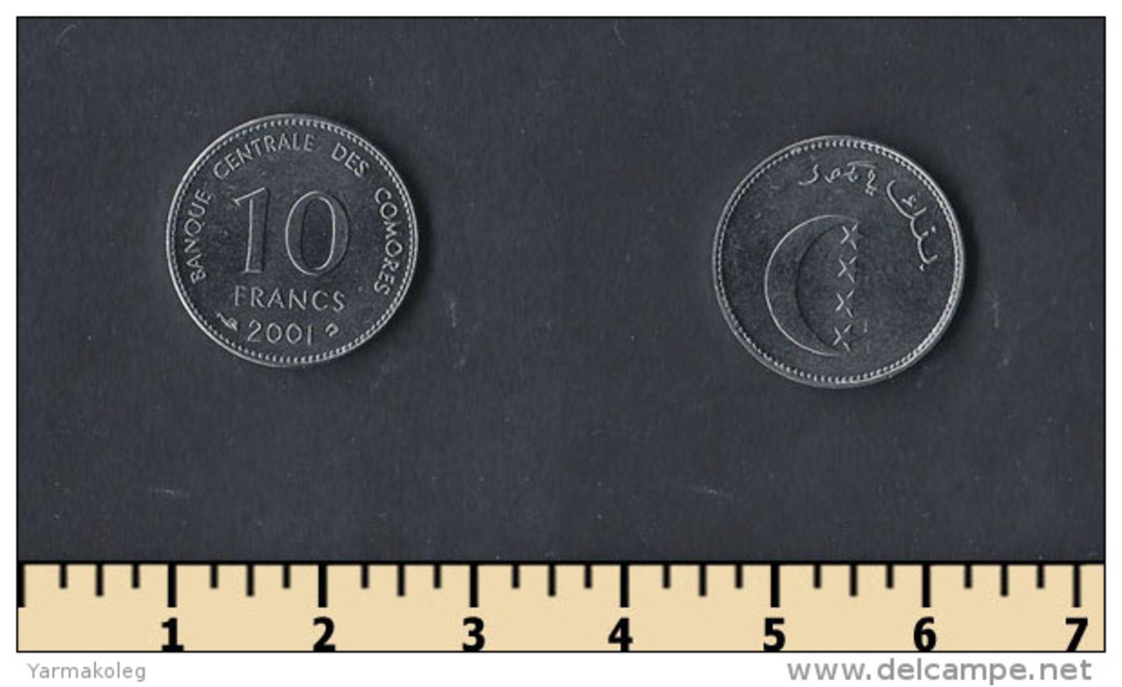 Comoros 10 Francs 2001 - Comoros