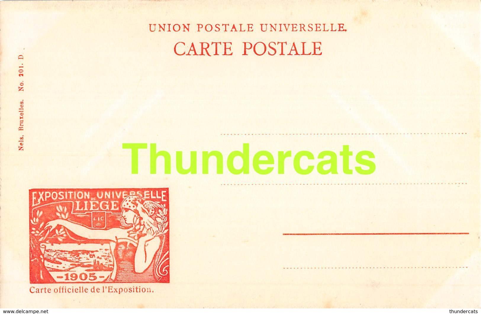 CPA CARTE OFFICIELLE DE L'EXPOSITION UNIVERSELLE LIEGE 1905 NELS NO 201 SABOTERIE DIDIER A FRAGNEE - Expositions