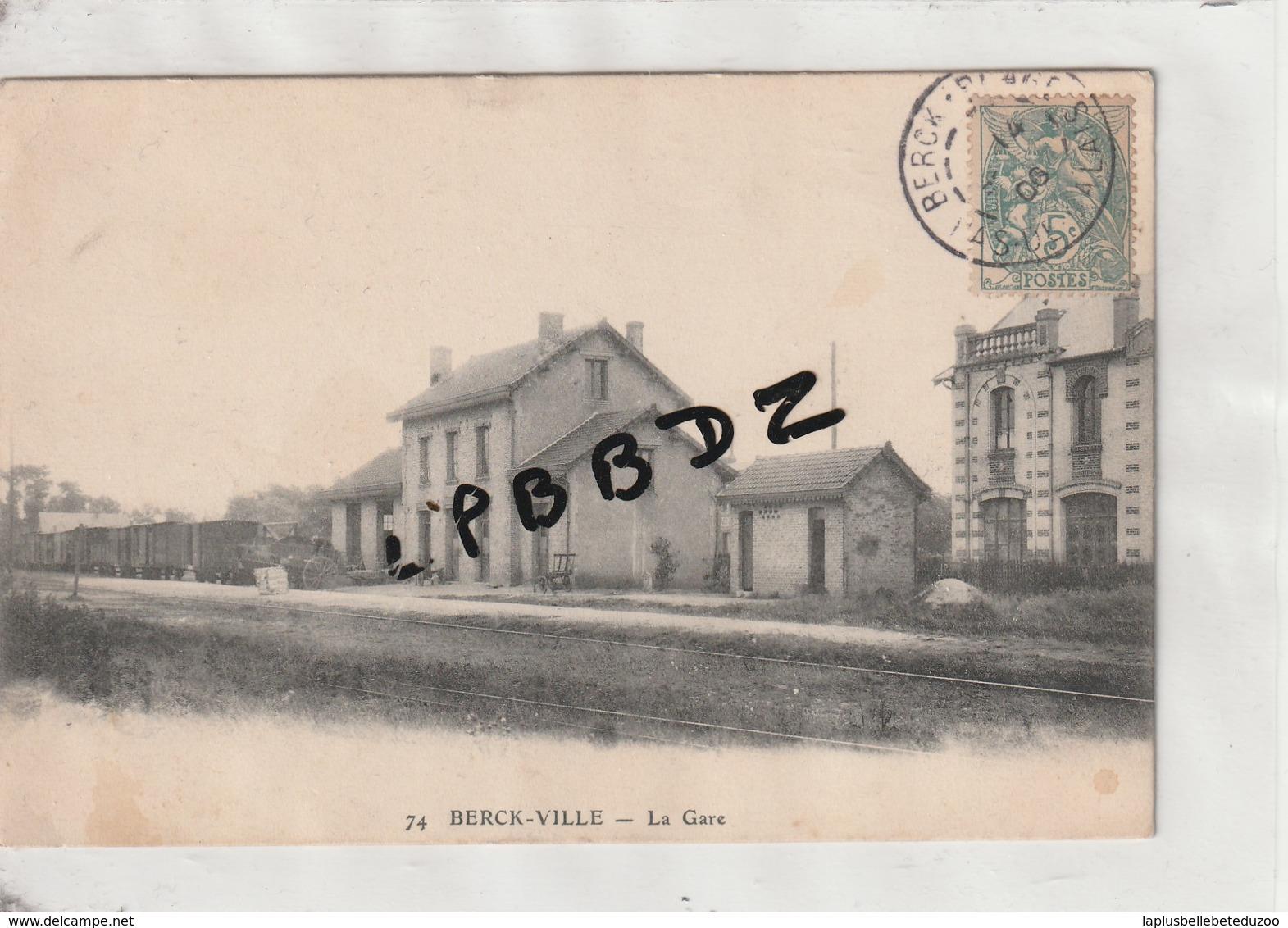 CPA - 62 - BERCK - VILLE - La Gare - 1906 - Berck