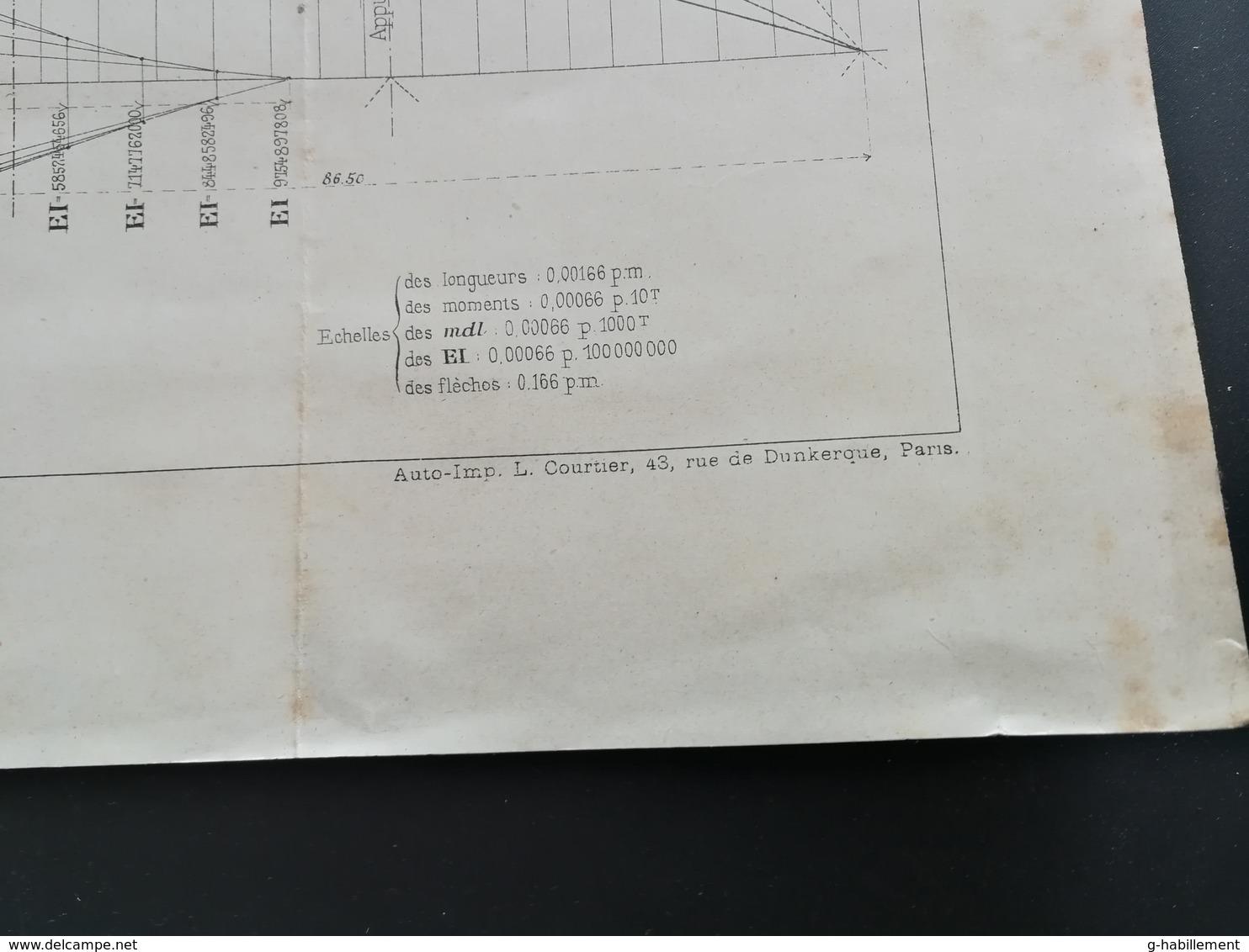 ANNALES PONTS Et CHAUSSEES - (Dep 75) Construction Du Pont Alexandre III Sur La Seine - Imp. L. Courtier 1898 (CLB61) - Travaux Publics