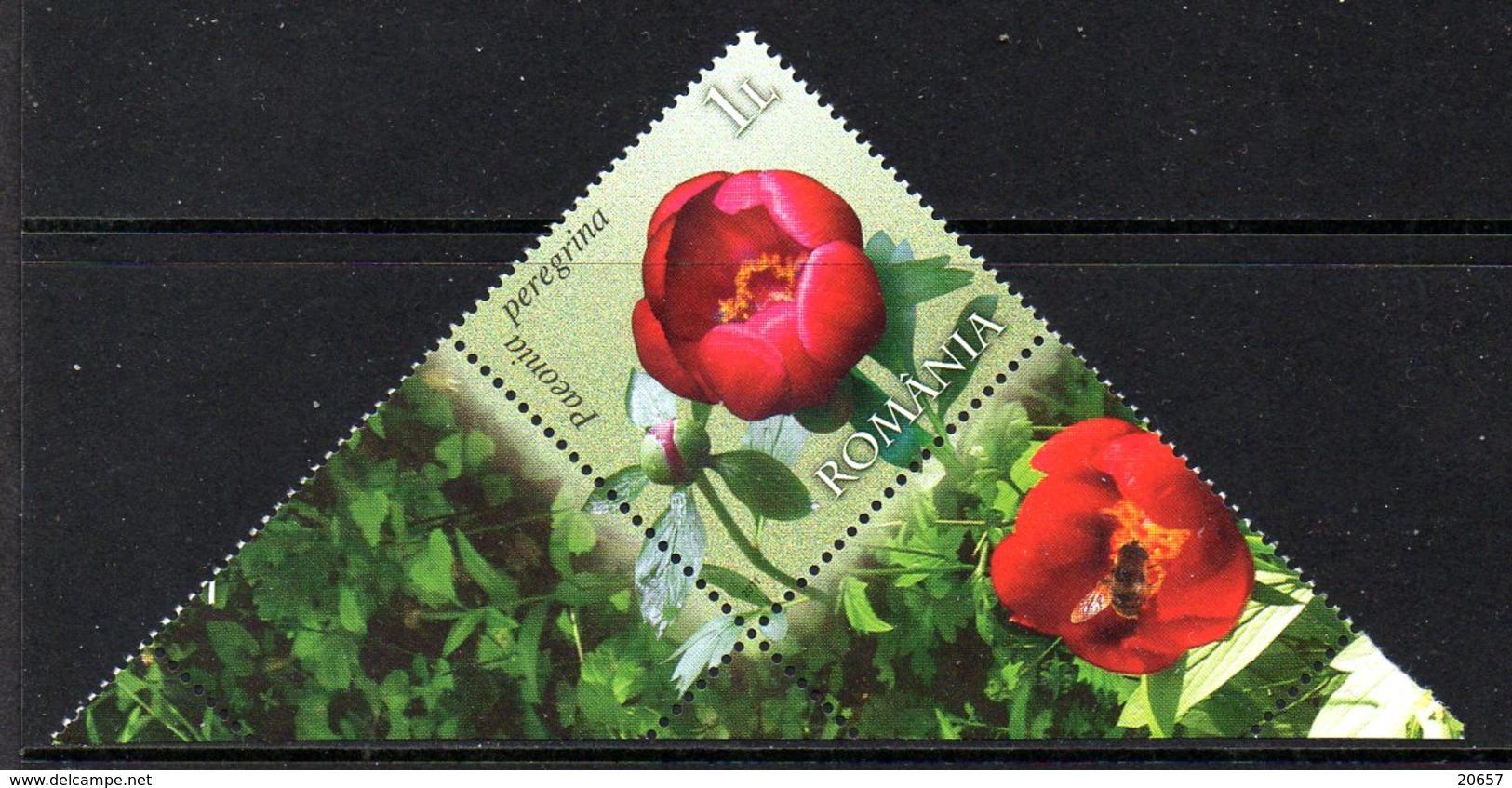 Roumanie Romania 5494 Pivoine - Végétaux